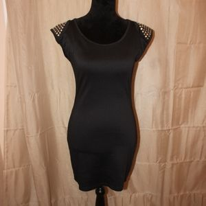 Black Studded Cocktail Dress